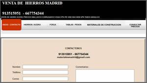 Venta de Hierros Madrid